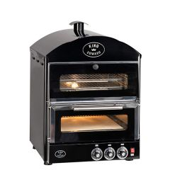 King Edward Black Double Pizza Oven 570x610x815mm