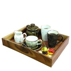 "Acacia Wood Display Tray / Crate 15.75x11.75x2.25""/40x30x6cm"