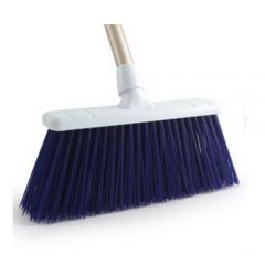 "Blue Stiff Bristle Yard Brush Head 12"" / 30cm"