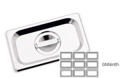 Stainless Steel Gastronorm Lid 1/9