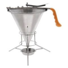 Confectionery Funnel & Stand Complete with 2, 4 And 6mm Nozzles