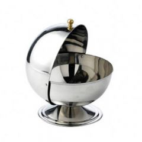 "Globe Sugar Bowl with Flip Top Lid 4.75"" / 12cm"