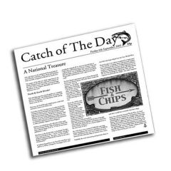 "Catch of The Day Design Small Greaseproof Sheets 6"" / 15cm"