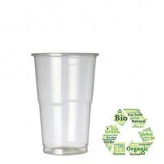 Biodegradable Disposable Half Pint Glass 10oz / 28cl 1/2 Pint to Brim CE