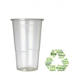Biodegradable Disposable Half Pint Glass 12oz / 34cl 1/2 Pint to Line CE