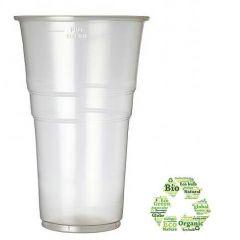 Biodegradable Disposable Pint Glass 22oz / 57cl Pint to Line CE