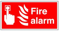 Fire Alarm Sticker 10x20cm