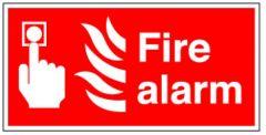Fire Alarm Flexible Plastic Sign 10x20cm