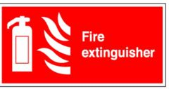 Fire Extinguisher Flexible Plastic Sign 10x20cm