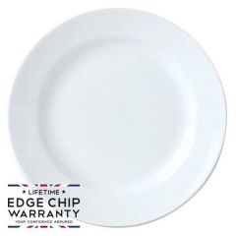 "Steelite Simplicity White Harmony Plate 12.5"" / 31.5cm"