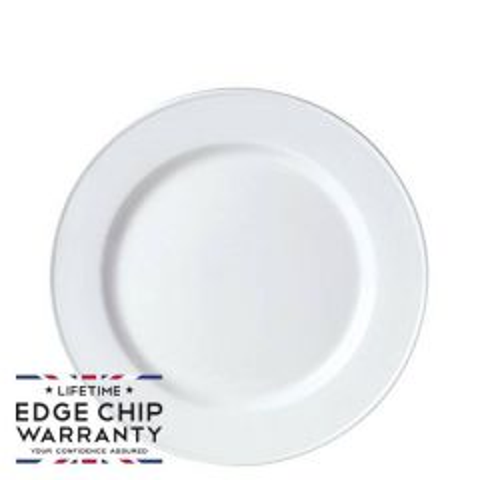 "Steelite Simplicity White Slimline Plate 7"" / 17.7cm"