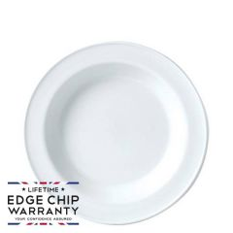 "Steelite Simplicity White Soup Plate 8.5"" / 21.5cm"