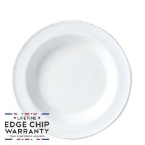 "Steelite Simplicity White Rimmed Soup Plate 9"" / 23cm"