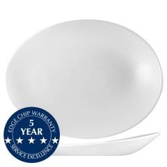 "Churchill Orb Oval Plate 13.625x9x2"" / 34.6x26.3x5cm"