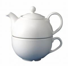 Churchill White 1 Cup Teapot Only 13oz / 36.2cl