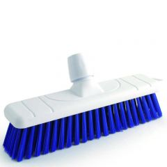 "Blue Stiff Bristle Sweeping Brush Head 11"" / 28cm"