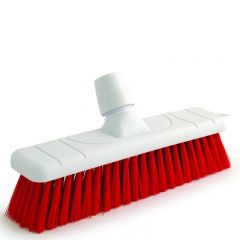"Red Stiff Bristle Sweeping Brush Head 11"" / 28cm"