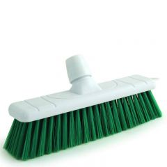 "Green Stiff Bristle Sweeping Brush Head 11"" / 28cm"