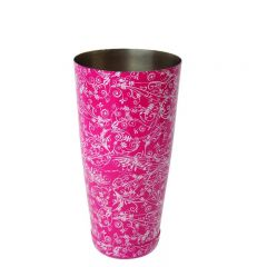 Mezclar Pink Patterned Boston Shaker Can