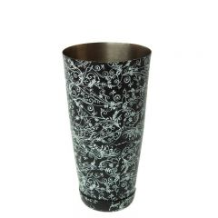 Mezclar Black Patterned Boston Shaker Can