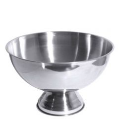 "Stainless Steel Punch / Champagne Bowl 15"" / 38cm"