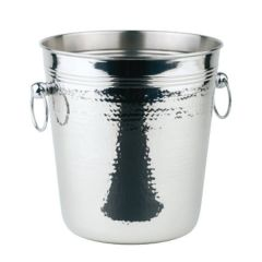 Stainless Steel Wine Cooler Hammered Finish with Ring Handles