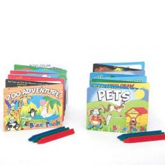Childrens Bizzi Activity Pack Small Assorted Books & Crayons