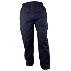 """Black Polycotton Trousers with Elasticated Waist & Drawstring Large 36-38"""""""