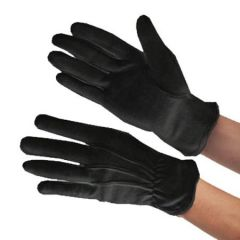 Black Cotton Rubber Grip Heat Resistant Gloves Large