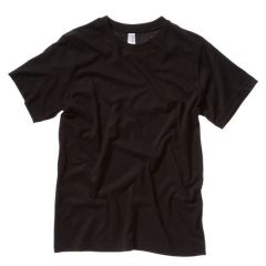 Black Combed & Ring Spun Cotton T-Shirt Small 37""