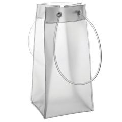 "Frosted Handled Wine / Champagne Bag 10"" / 25cm"