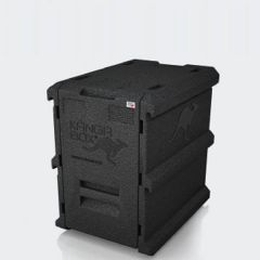 KANGABOX 1/1 Gastronorm Black Tower Insulated Front Loading Box 8 Level 64 Ltr