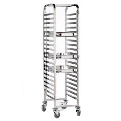 Stainless Steel Gastronorm Tray Trolley 20 Shelves