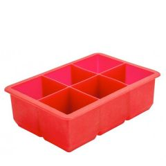 "Silicone 6 Compartment Ice Cube Tray Producing 2"" / 5cm Cubes"