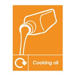 Cooking Oil Recycling Sticker 200x150mm