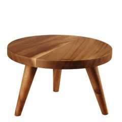 """Alchemy Buffetscape Wooden Round Large Stand 10x6"""" / 25x15cm"""