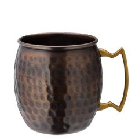Aged Copper Hammered Round Mug 19oz (54cl)