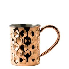 Solid Copper Dented Mug Slim with Nickel Lining 14.75oz / 42cl