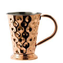 Solid Copper Dented Mug with Base and Nickel Lining 17oz / 48cl