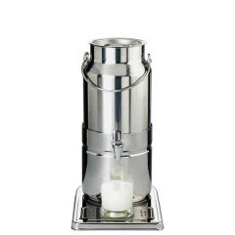 """Stainless Steel 18/8 Chilled Milk Dispenser 3ltr 21x32cm / 8.25x12.5"""""""