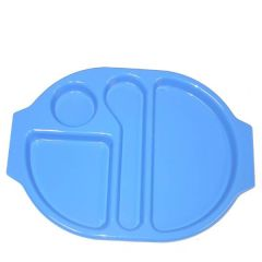 """Harfield Polycarbonate Plastic Med Blue Large Meal Tray 15x11"""" / 38x28cm"""