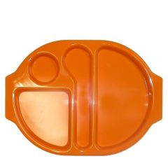 """Harfield Polycarbonate Plastic Orange Large Meal Tray 15x11"""" / 38x28cm"""