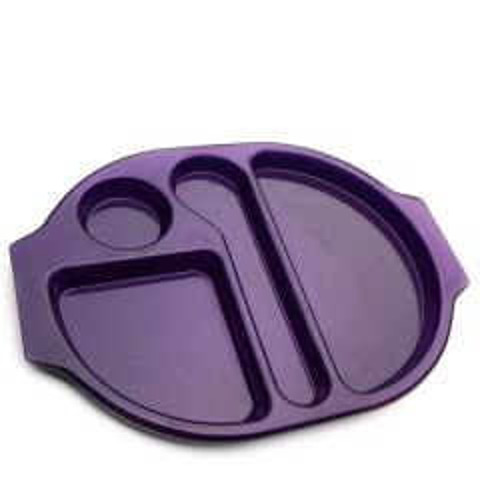 "Harfield Polycarbonate Plastic Purple Sparkle Large Meal Tray 15x11"" / 38x28cm"