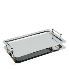 Stainless Steel 1/1 Stacking Buffet Tray With Handles 53x32.5cm