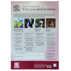 A3 Biodegradeable Health & Safety Law Legal Poster 420x297mm