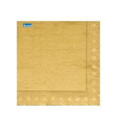 Swan Gold Celebration Dinner Napkin 40cm 3ply