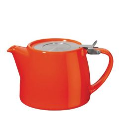 Carrot Ceramic Stump Teapot with Stainless Steel Lid 18oz / 51cl