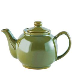 Price & Kensington Gloss Bright Olive Green Teapot 6 Cup 39oz / 1.1Ltr
