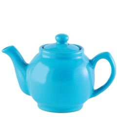 Price & Kensington Gloss Bright Blue Teapot 6 Cup 39oz / 1.1ltr