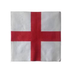 St Georges England Flag Napkin 2 Ply 33cm